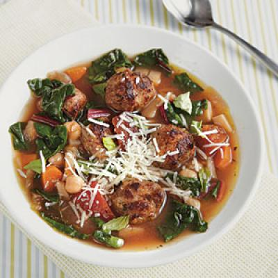 Winter Minestrone With Swiss Chard And Sausage Recipes — Dishmaps