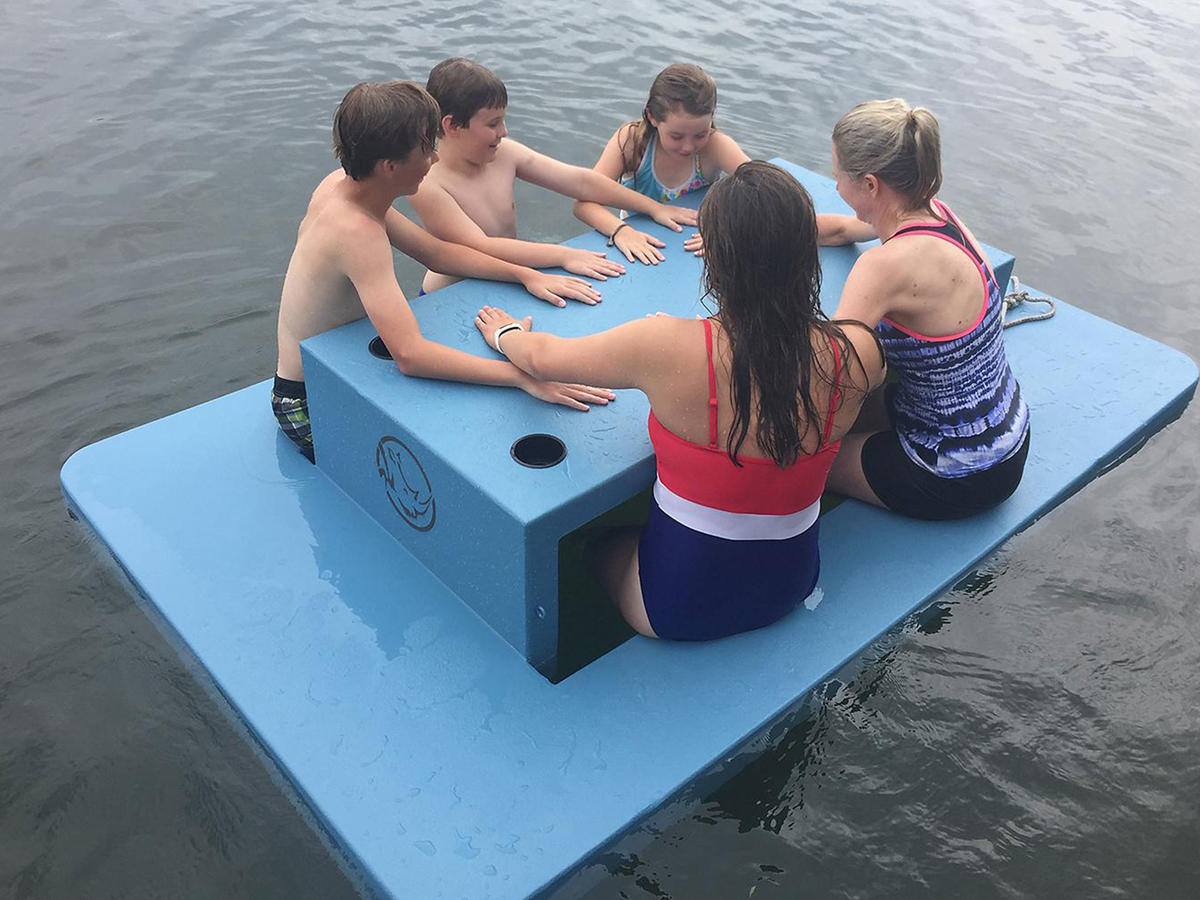 Sam's Club Is Selling a Floating Picnic Table So You Never Have to Get Out of the Water Again