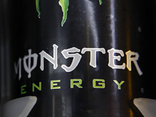 Monster Energy Drink Cans Shelf Display