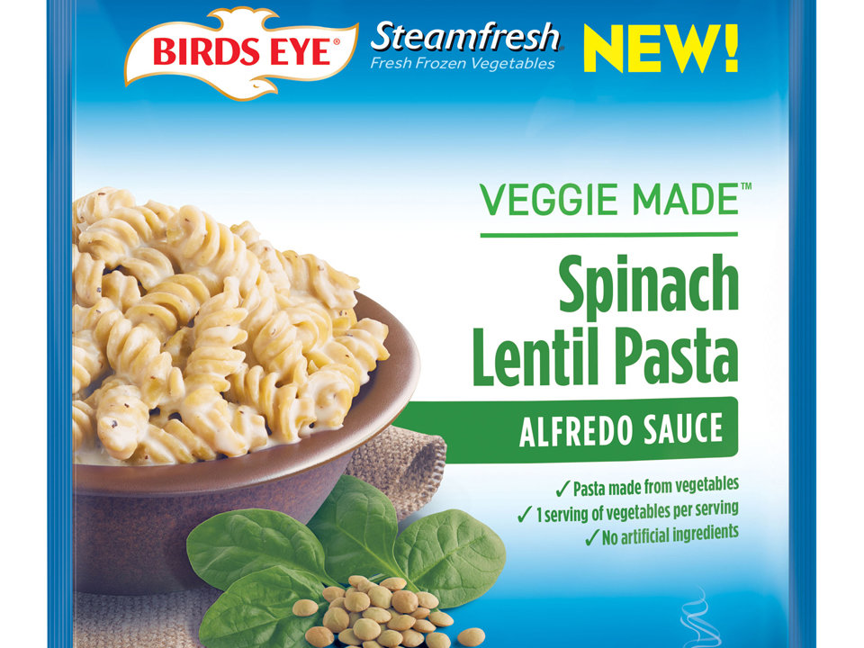 1707w Steamfresh Veggie Made Spinach Lentil Pasta