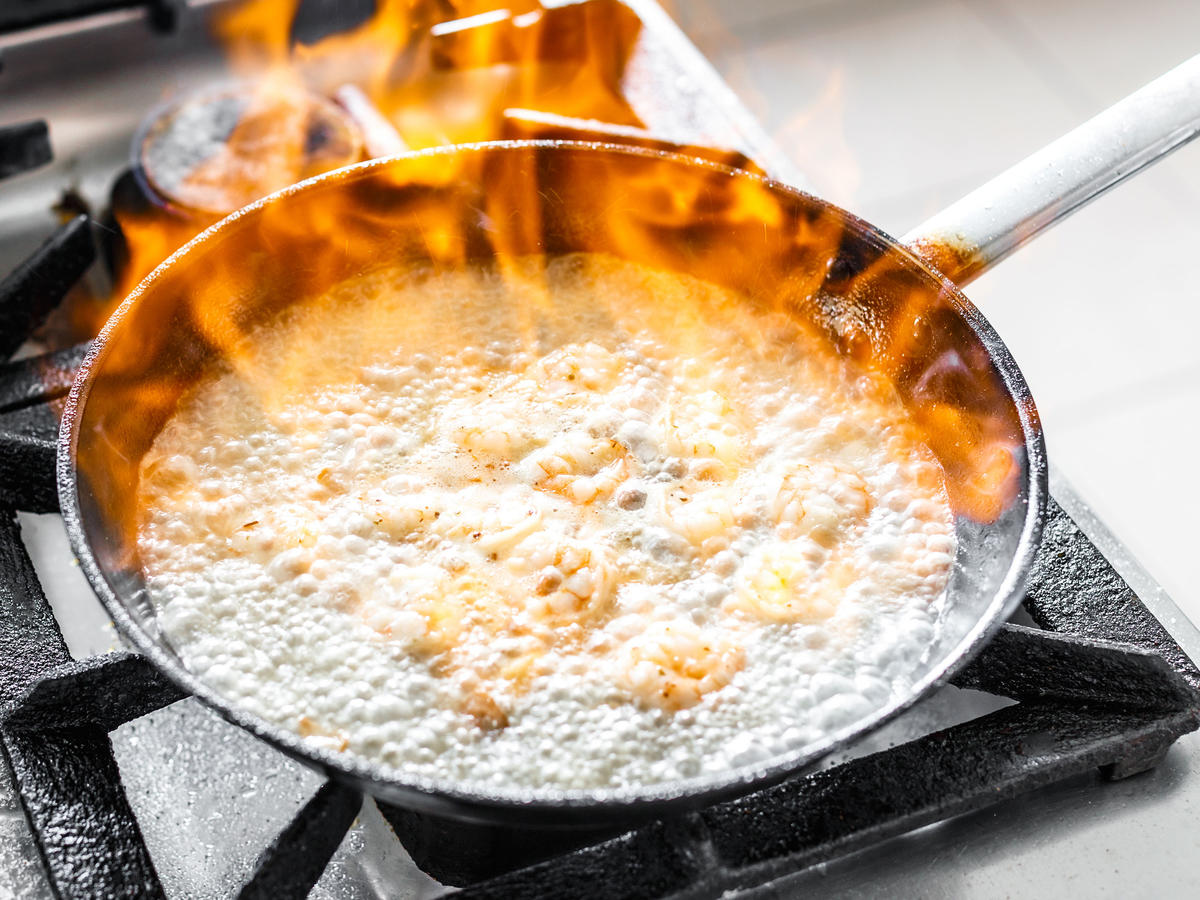 Skillet with Flames
