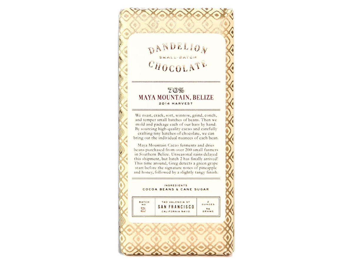 Dandelion Chocolate Single Origin Belize