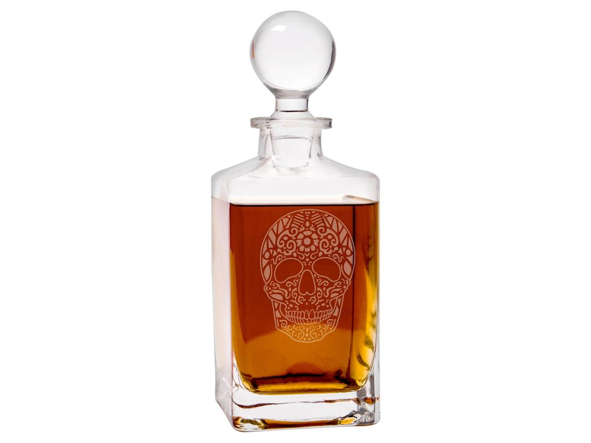 1708w Sugar Skull Decanter