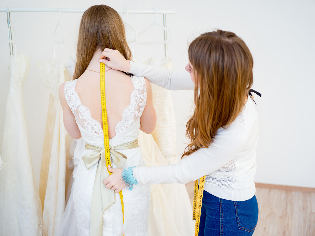 Bride Dress Fitting