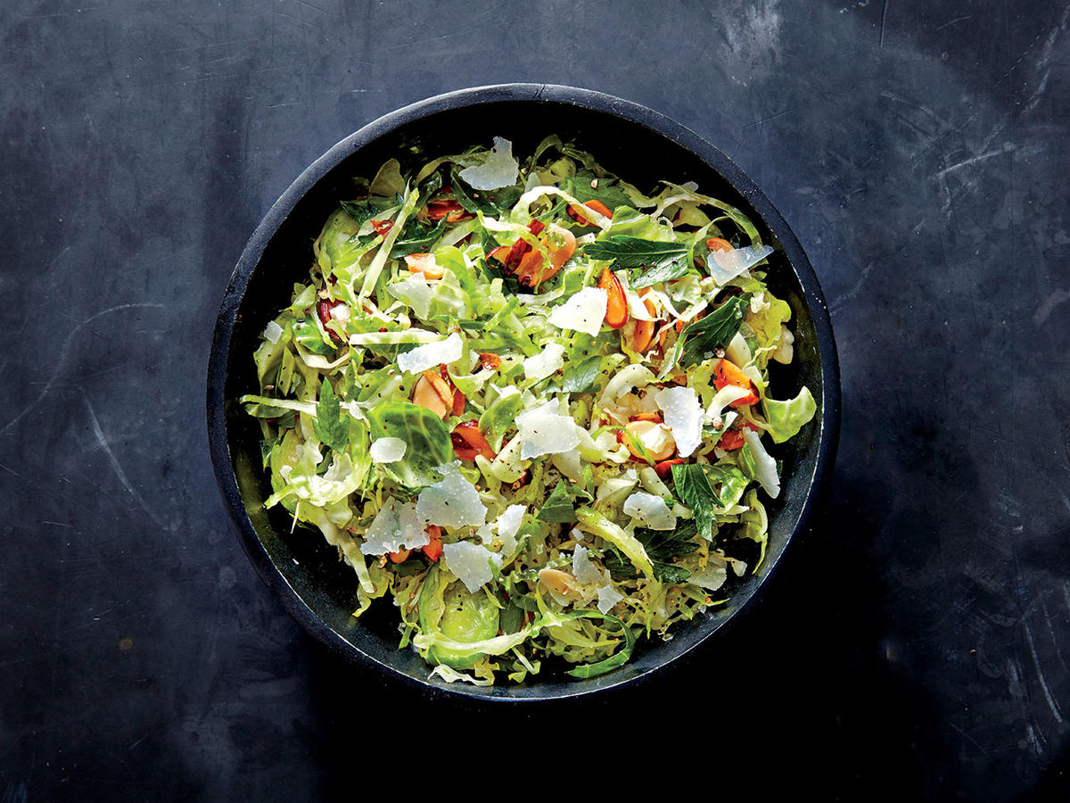 Caesar Brussels Sprouts Salad with Almonds