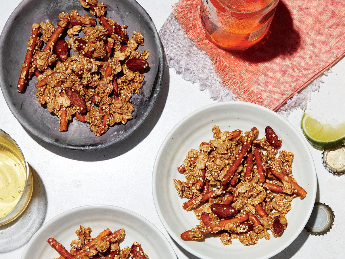 Spicy, Barely Sweet Supercrunch Granola