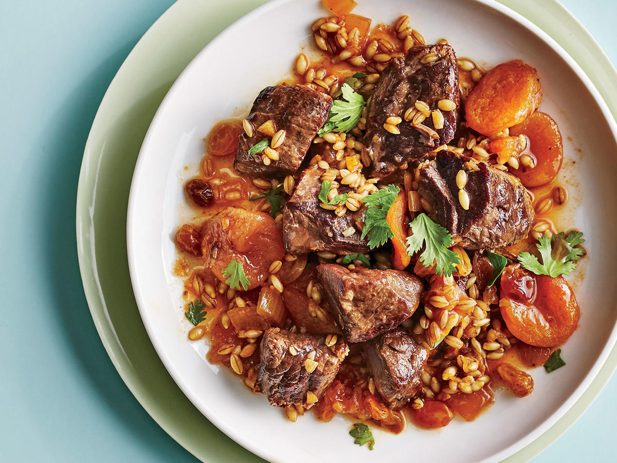 1710 Lamb, Barley, and Apricot Tagine