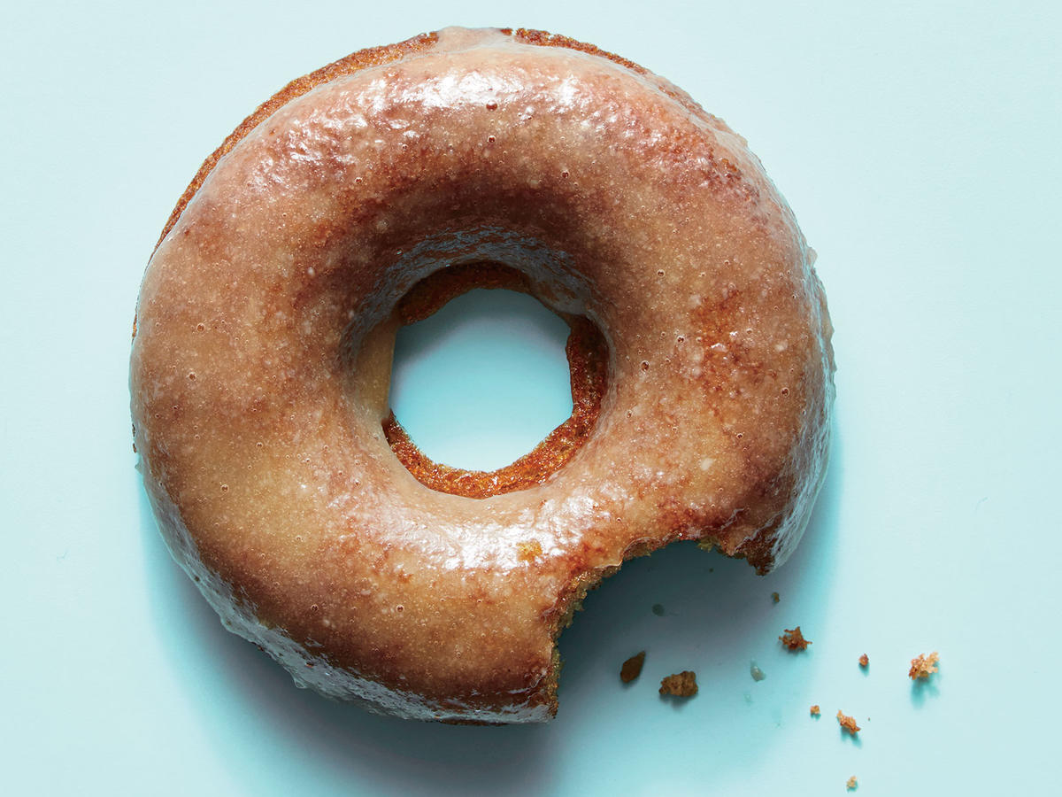 Cider Doughnuts with Maple-Tahini Glaze