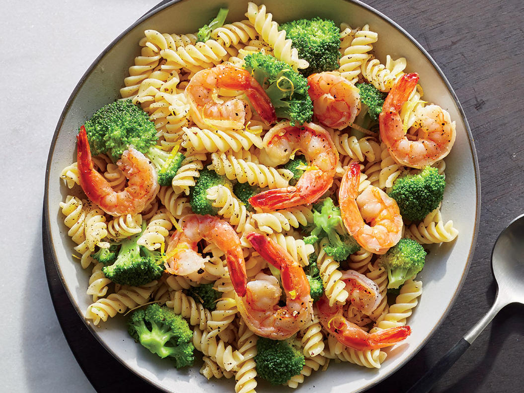 Monday: Shrimp and Broccoli Rotini