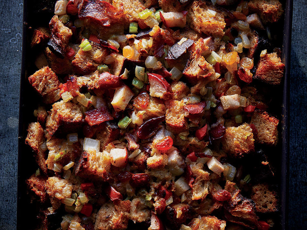 Pear, Sage, and Golden Raisin Stuffing Recipe - Cooking Light