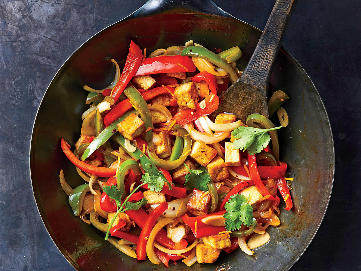 Orange, Tofu, and Bell Pepper Stir-Fry