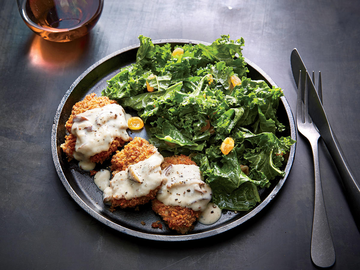 Wednesday: Pork Milanese with Kale Salad