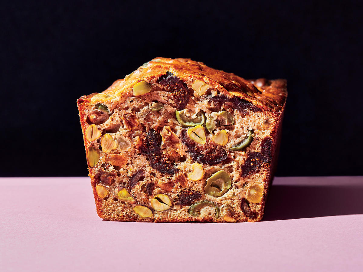 Savory Fig, Olive, And Pistachio Fruitcake