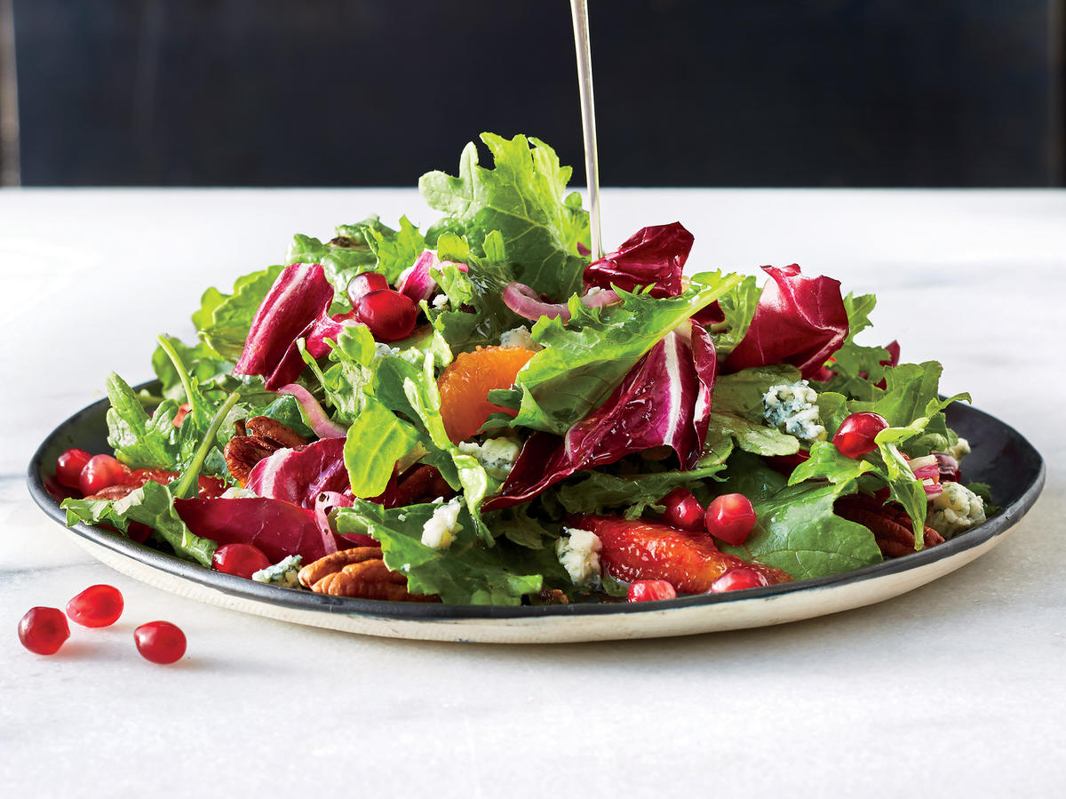 Winter Greens Salad with Citrus and Blue Cheese