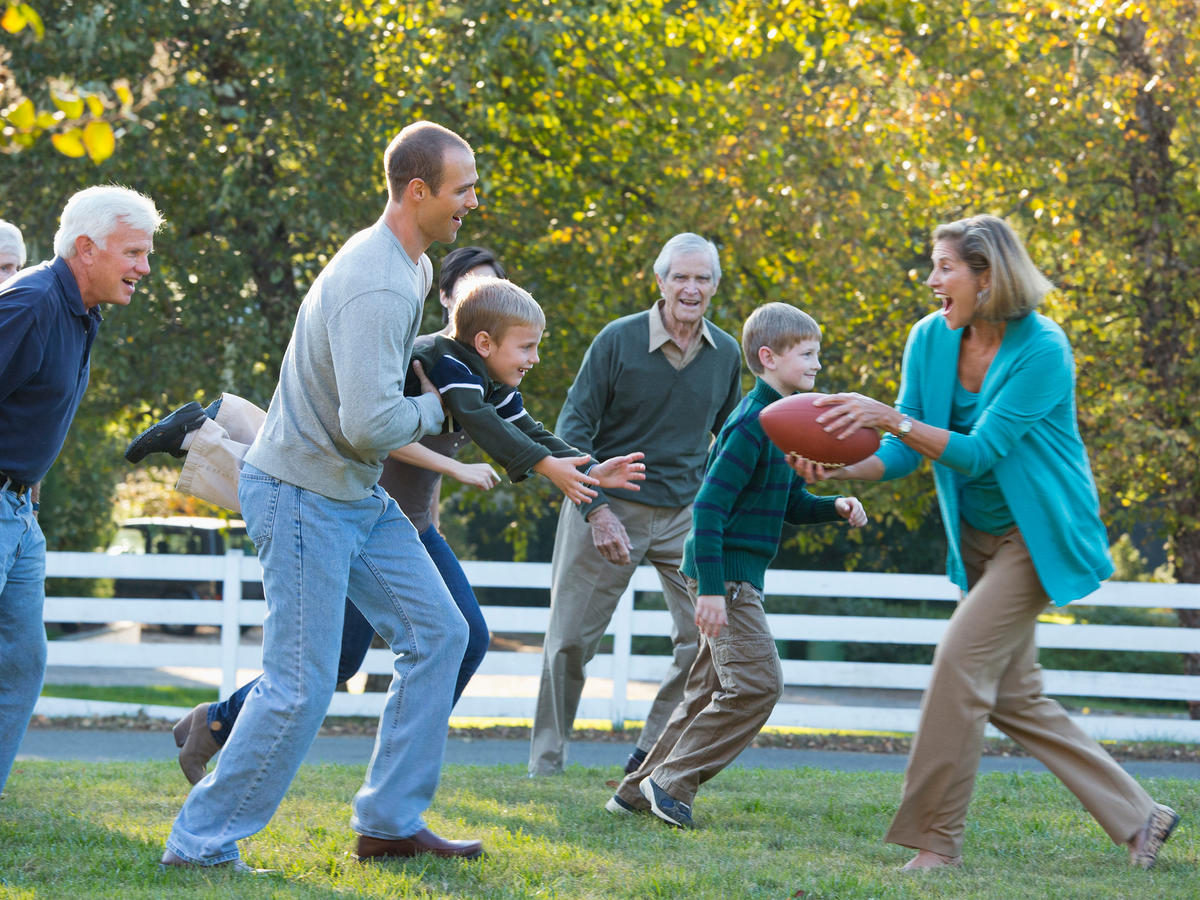 Family Football Match on Thanksgiving