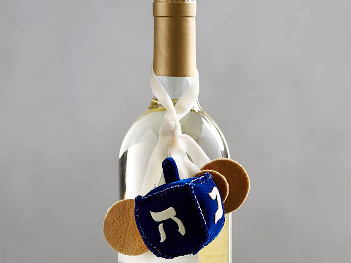 Dreidel Wine Topper
