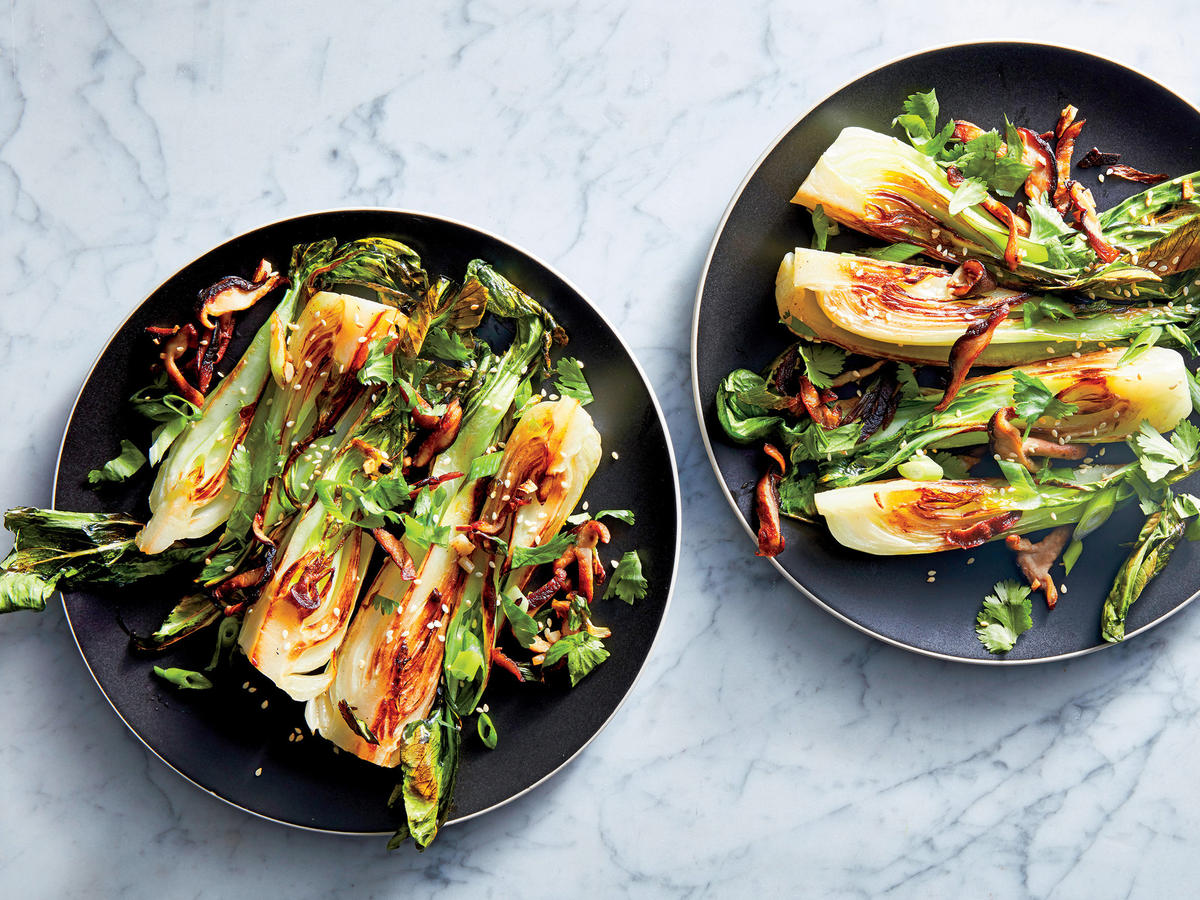 Shiitake-and-Sesame Bok Choy