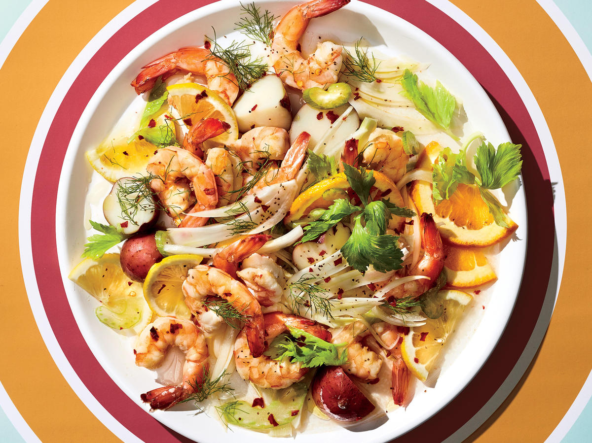 Citrus-Pickled Shrimp with Fennel and Potatoes