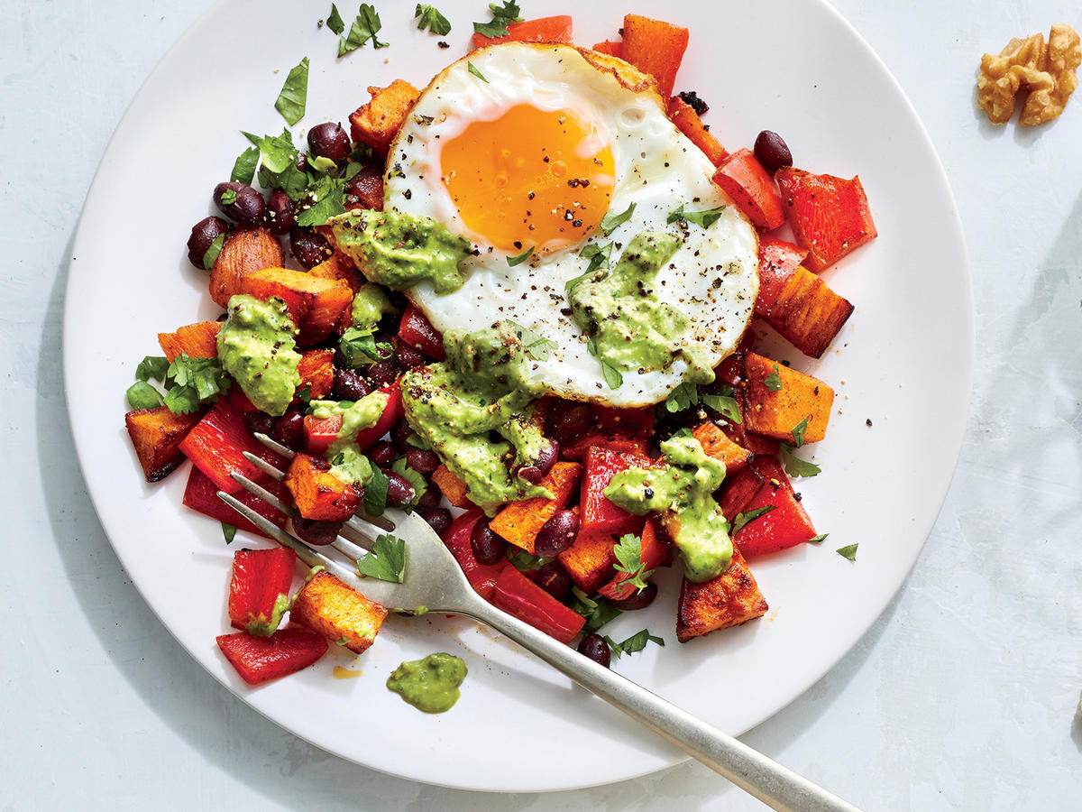 Southwestern Sweet Potato and Egg Hash