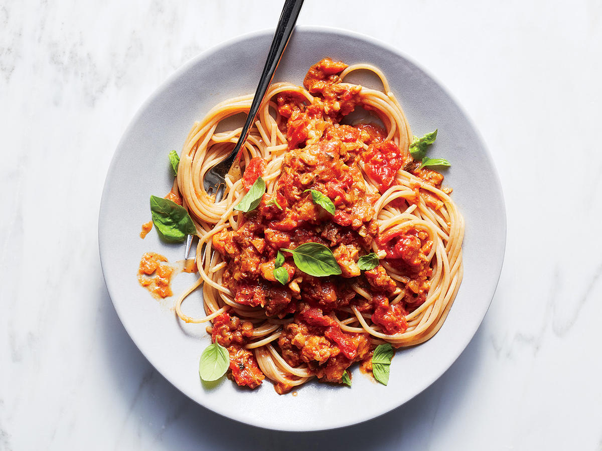 February: Vegetarian Bolognese