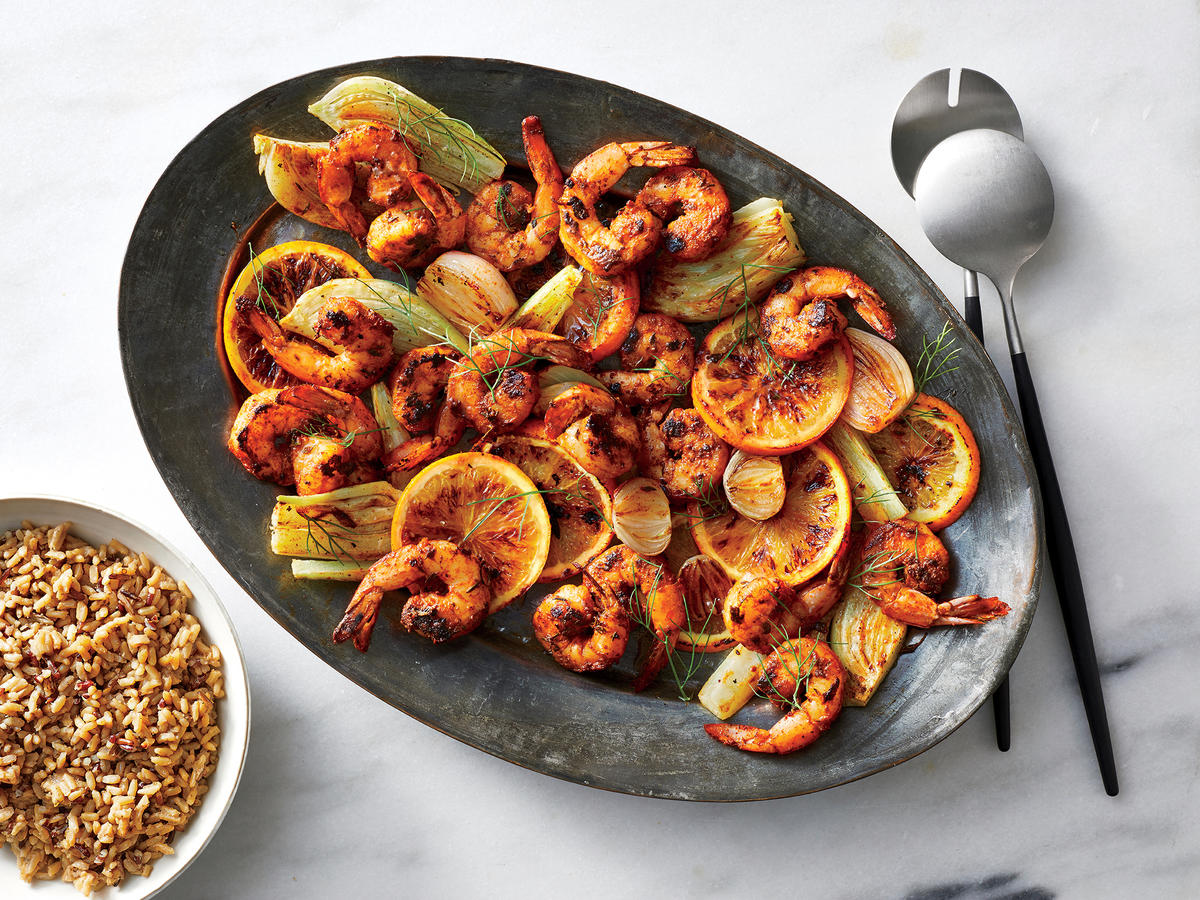Friday: Blackened Shrimp with Citrus and Roasted Fennel