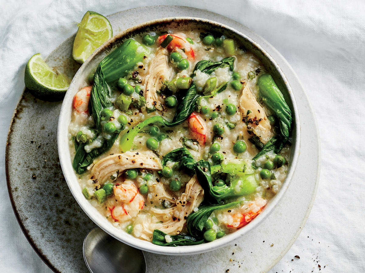 This Chicken, Shrimp, and Rice Stew Is Inspired by Classic Asian Congee