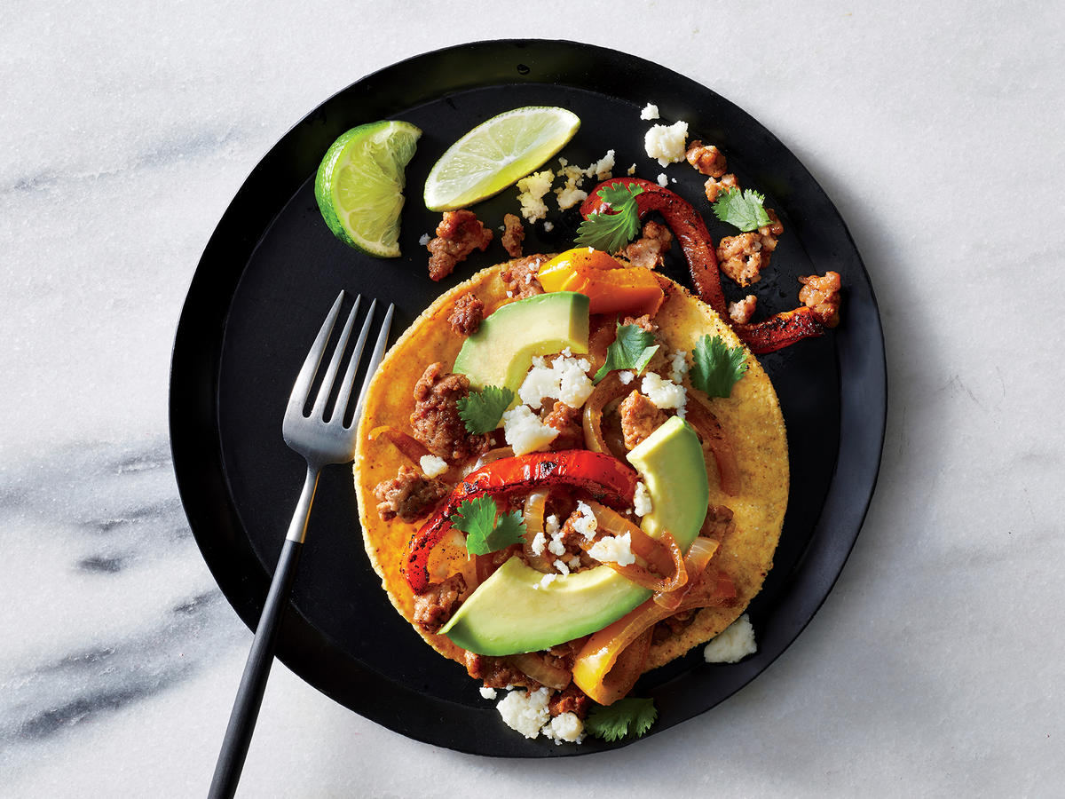 Wednesday: Chorizo and Bell Pepper Tostadas