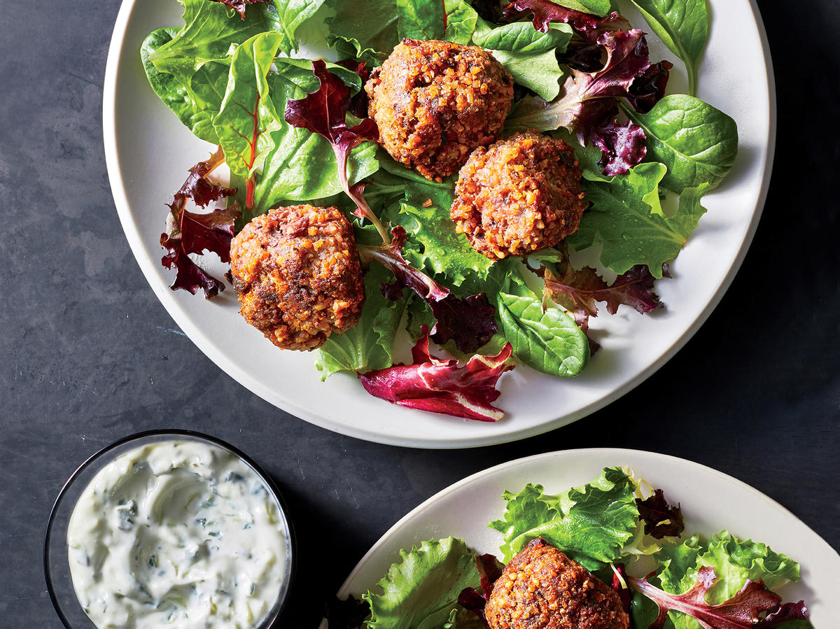 Lamb and Beet Meatballs