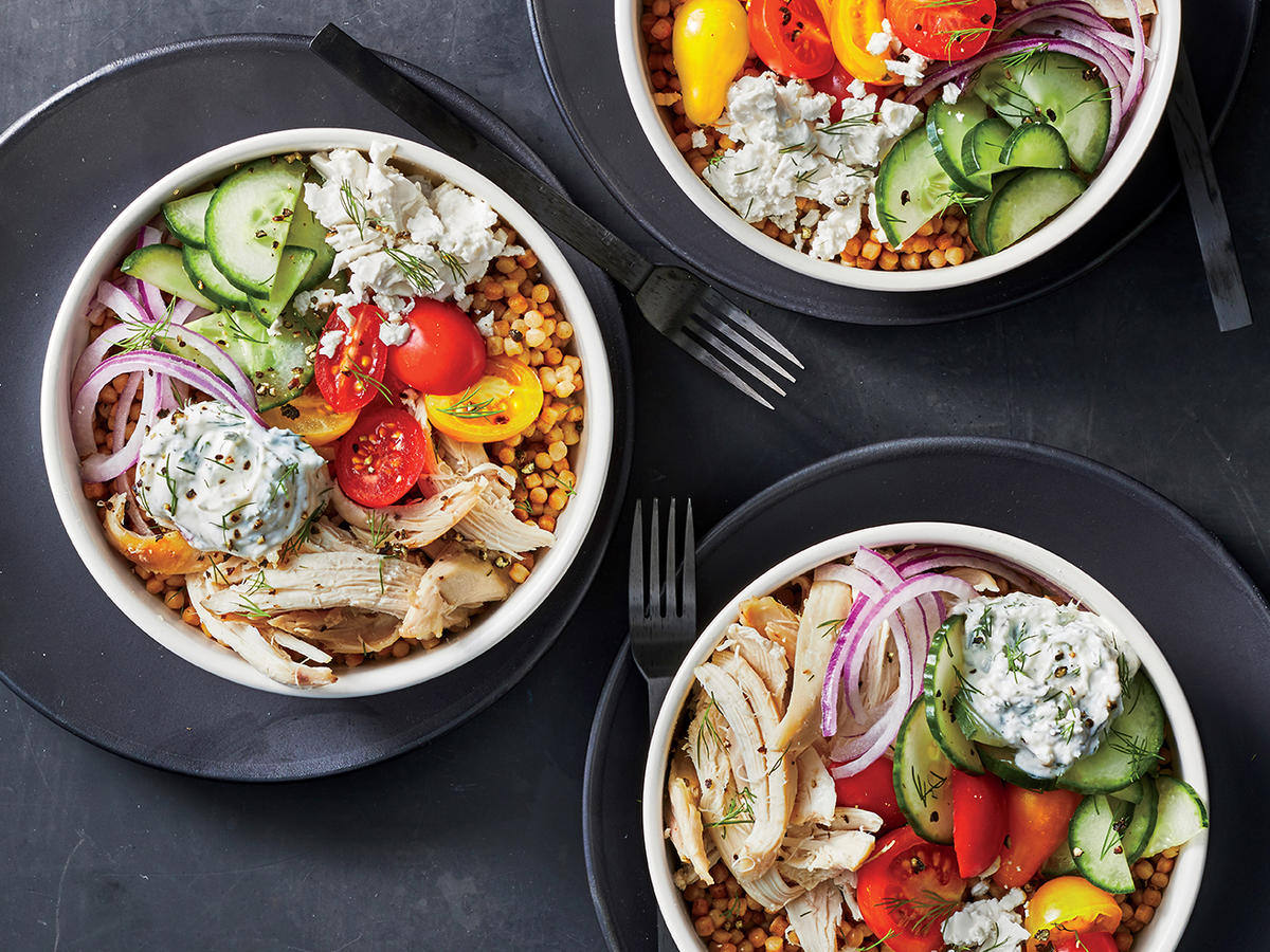 Mediterranean Chicken and Couscous Bowls