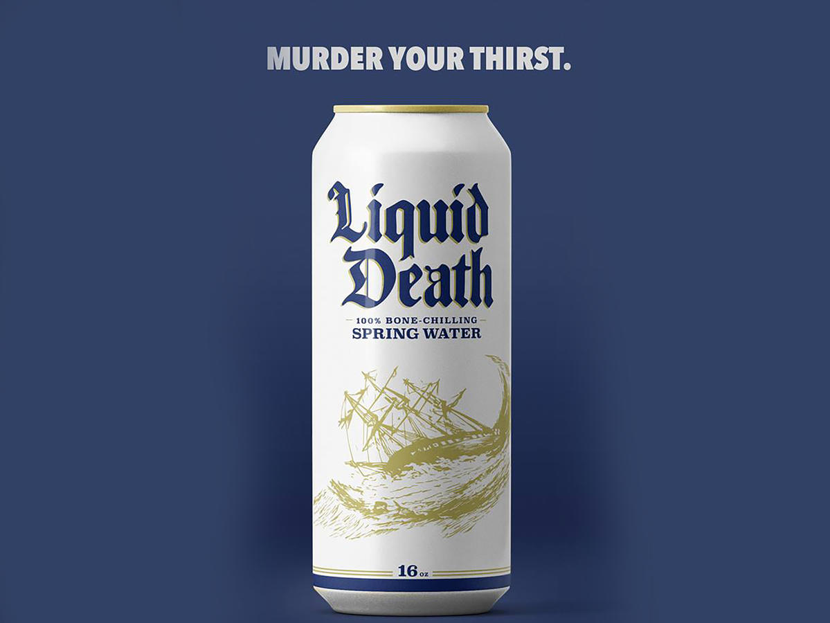 1801w Liquid Death Advertisement