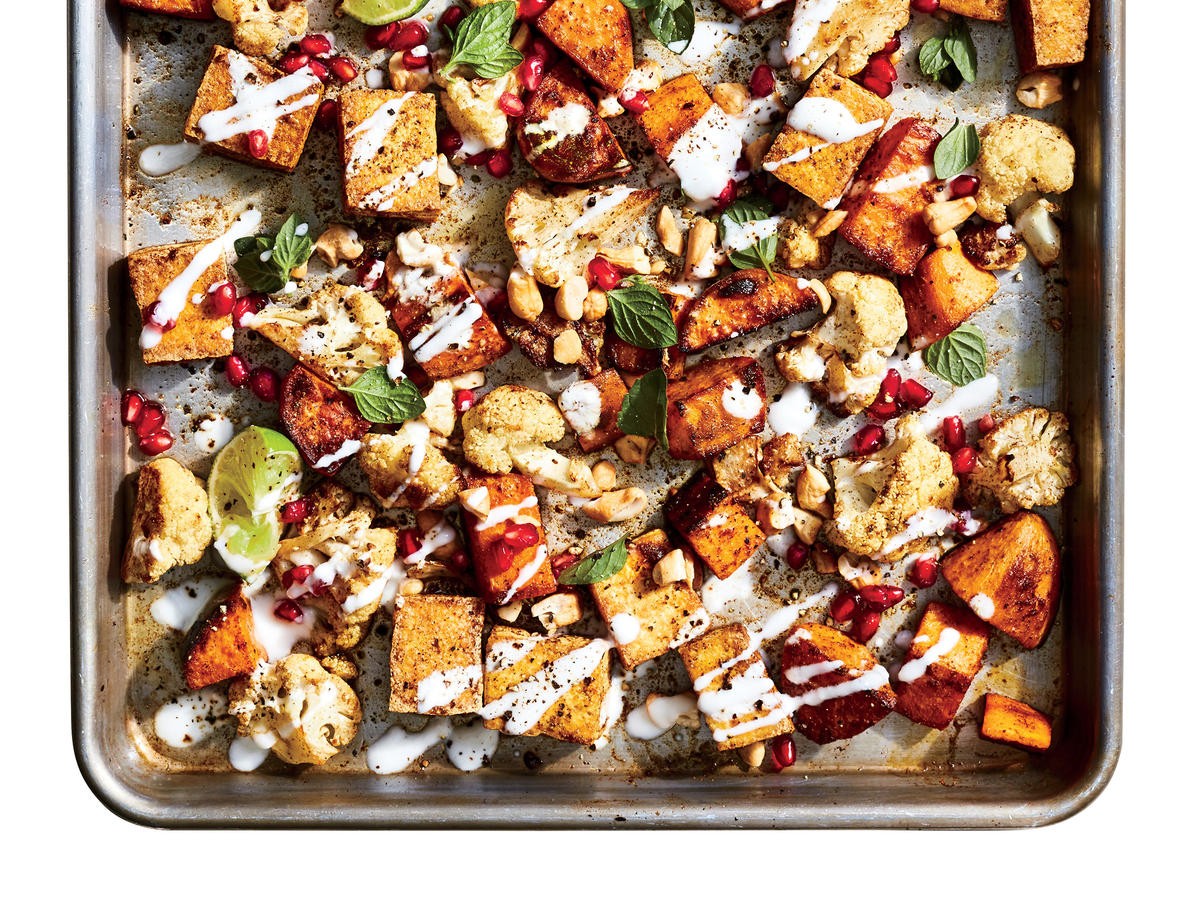 March: Sheet Pan Curried Tofu with Vegetables