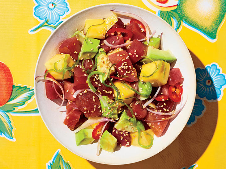 Tuna Poke with Mango and Avocado