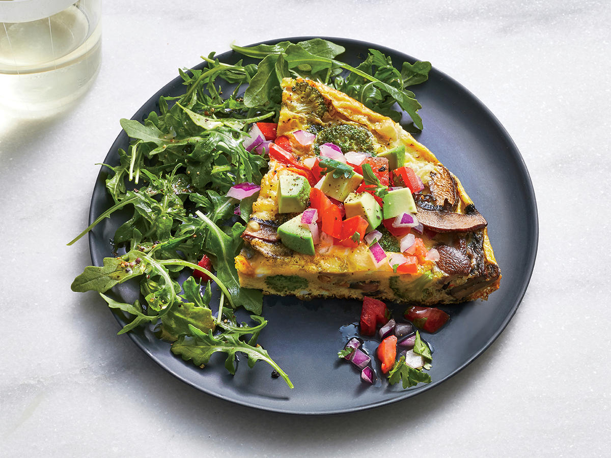 Vegetable and Goat Cheese Frittata