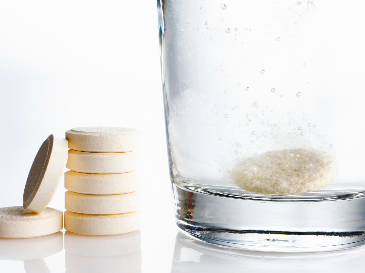 Water with Fizzy Tablet