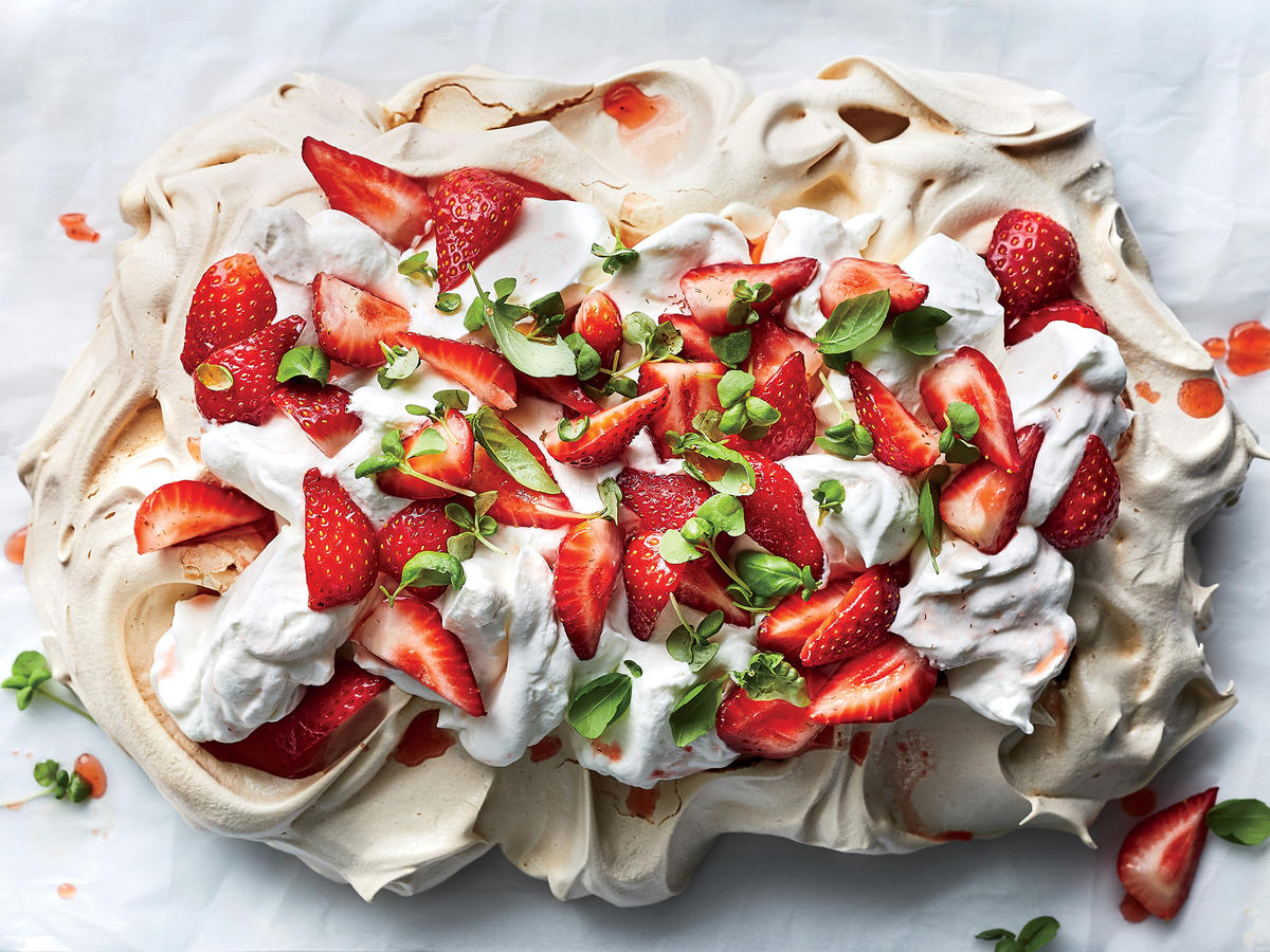 "Strawberry, Basil, and Balsamic ""Slablova"""