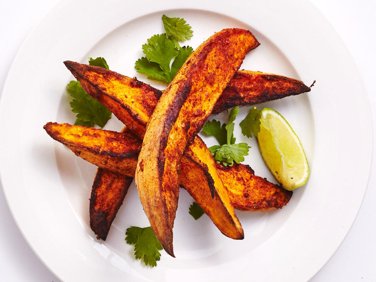 Crispy Air Fried Sweet Potato Wedges