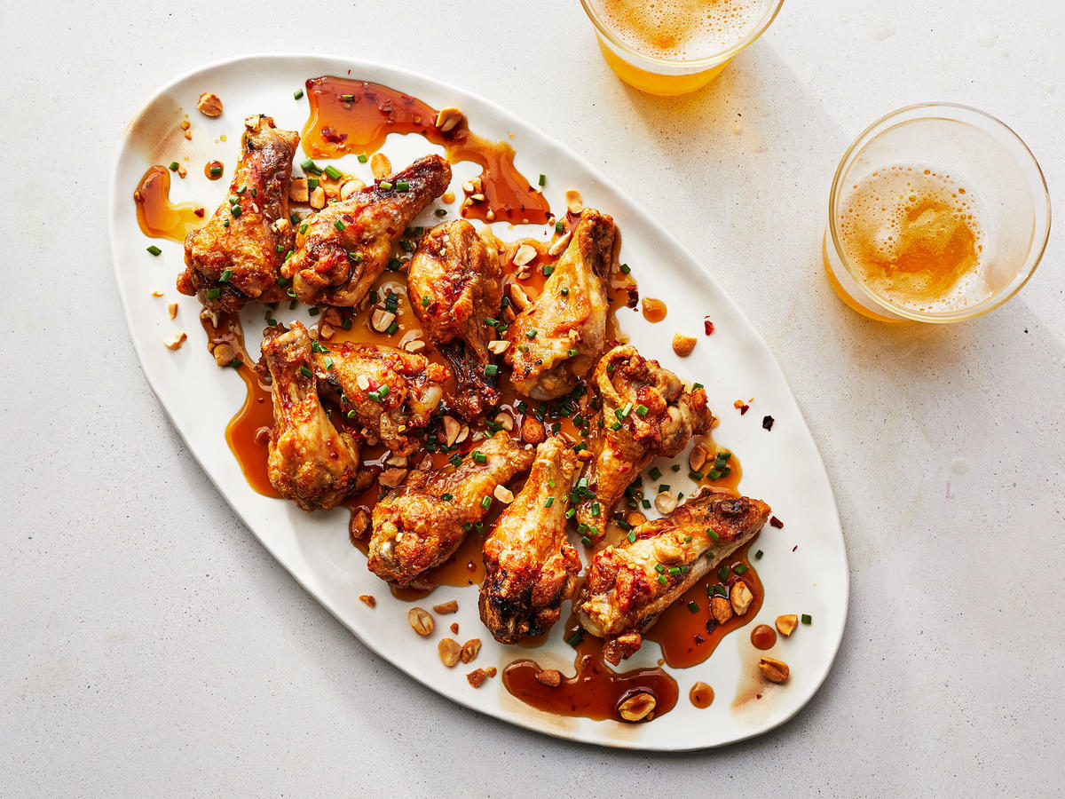 These Air Fried Spicy Chicken Wing Drumettes Are Super Crispy Recipe Cooking Light
