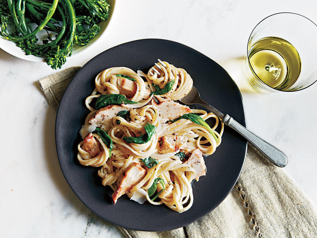 Grilled Chicken Florentine Pasta
