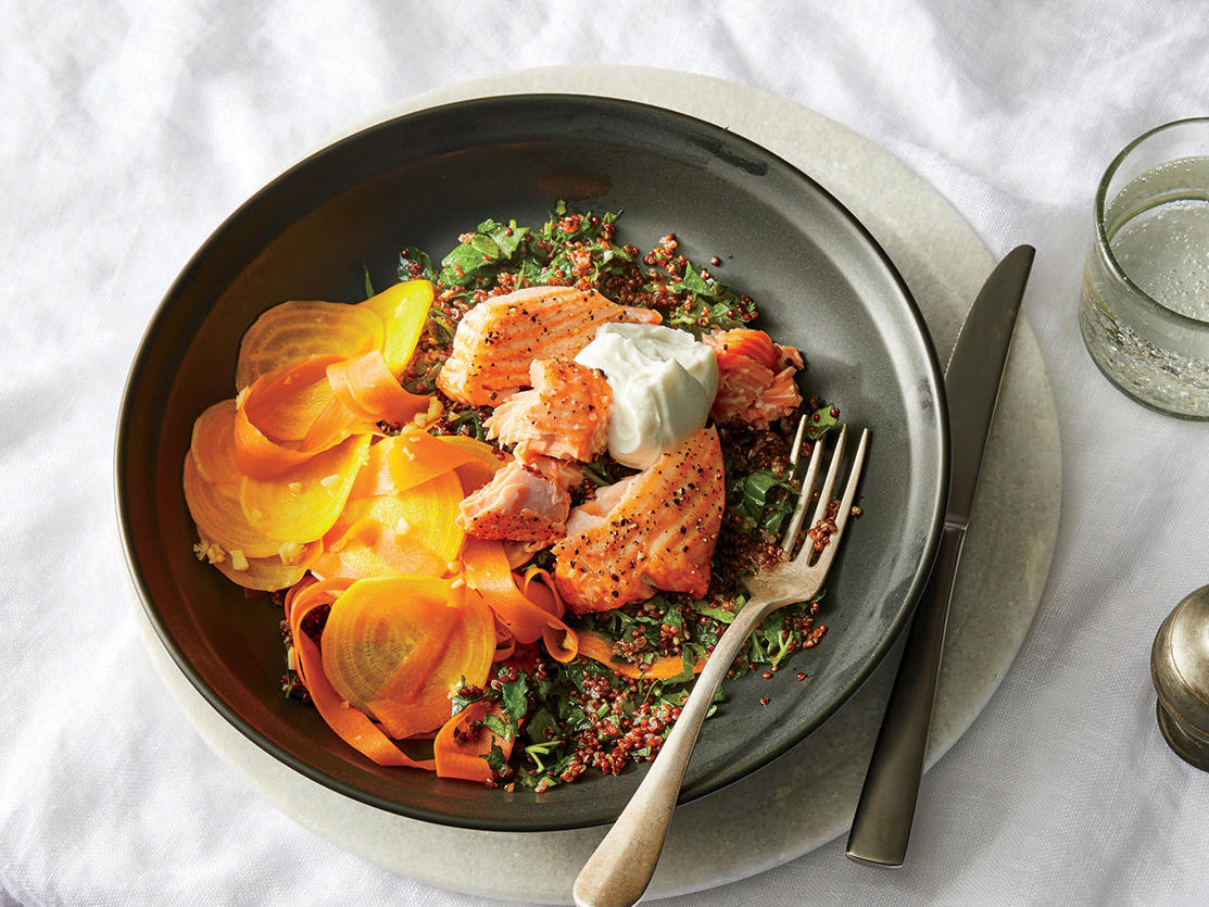 Wednesday: Salmon and Quinoa Bowl