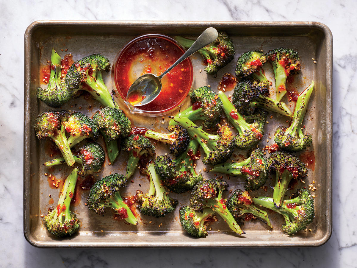 Friday: Leftover Protein with Charred Orange-Chile Broccoli