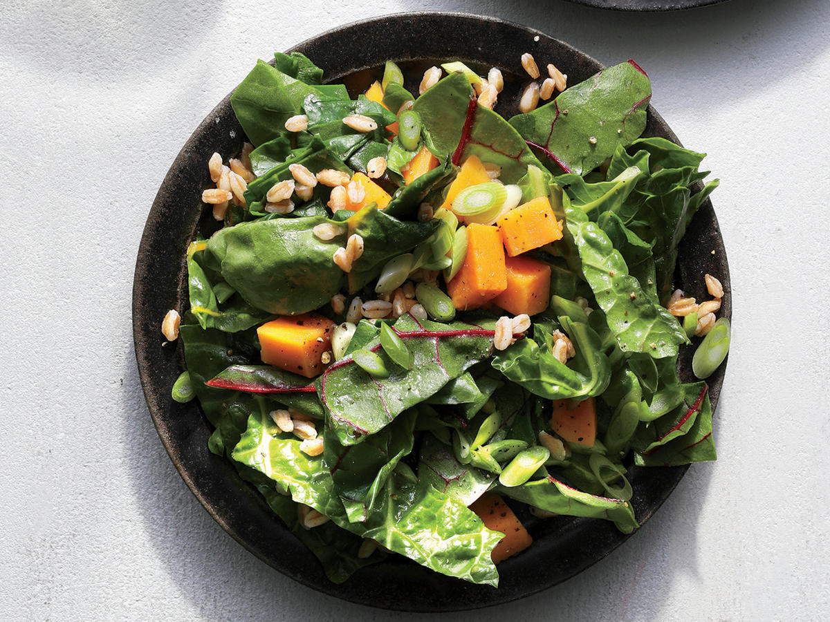 Sweet Potato and Chard Salad