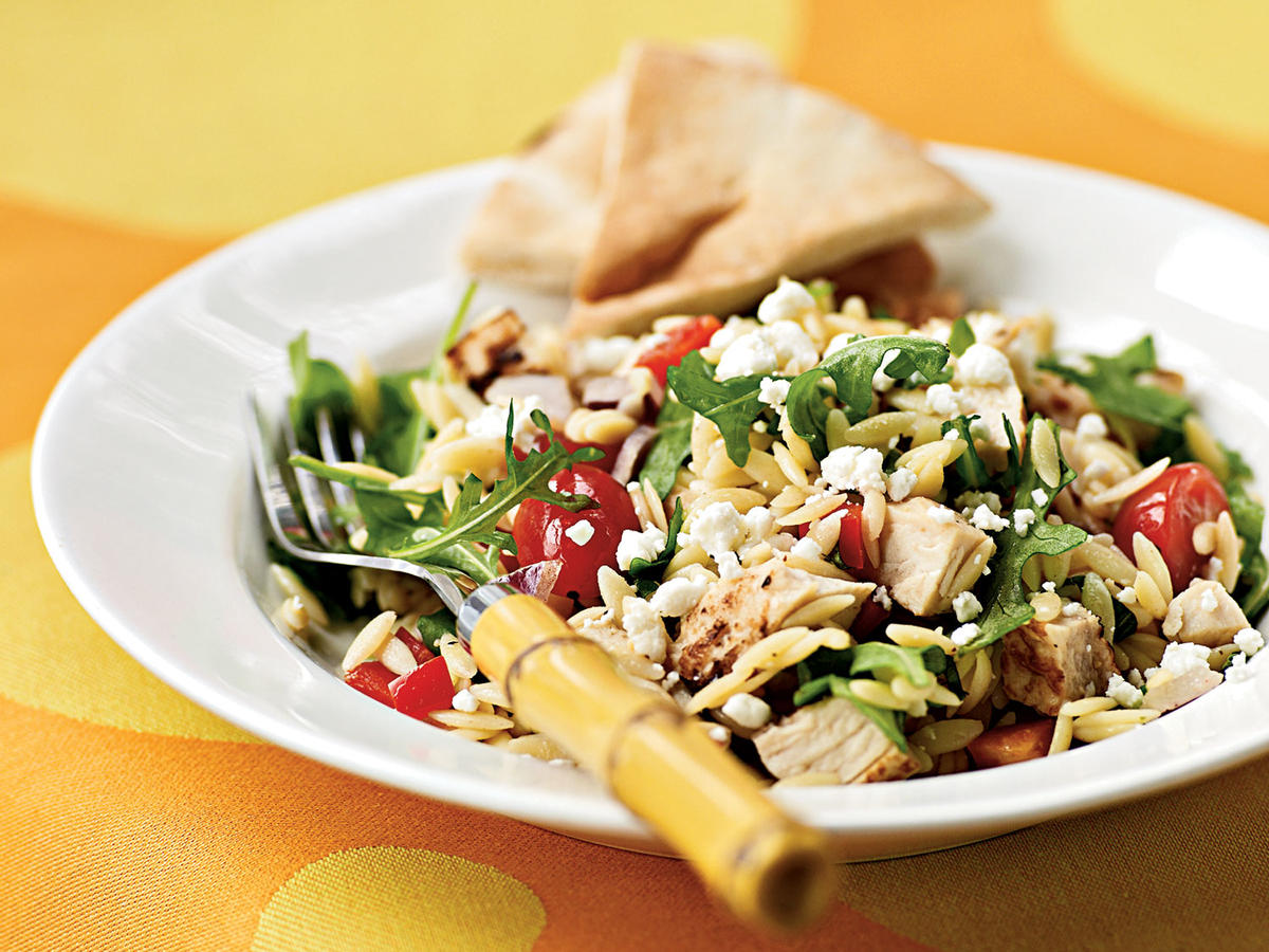 1804w Chicken-Orzo Salad with Goat Cheese