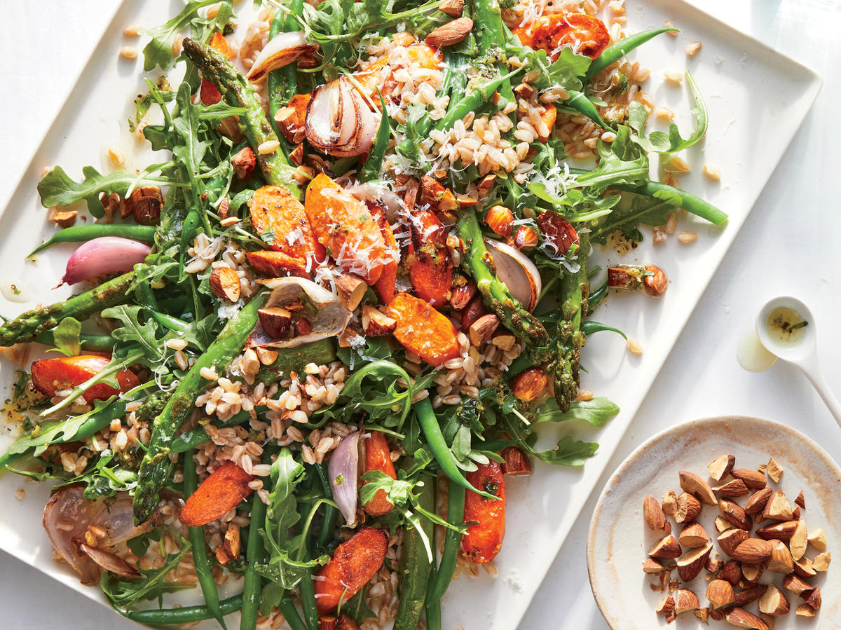 Roasted Summer Vegetable Plate with Herb Dressing