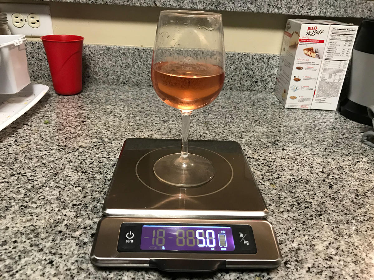 Wine weight after