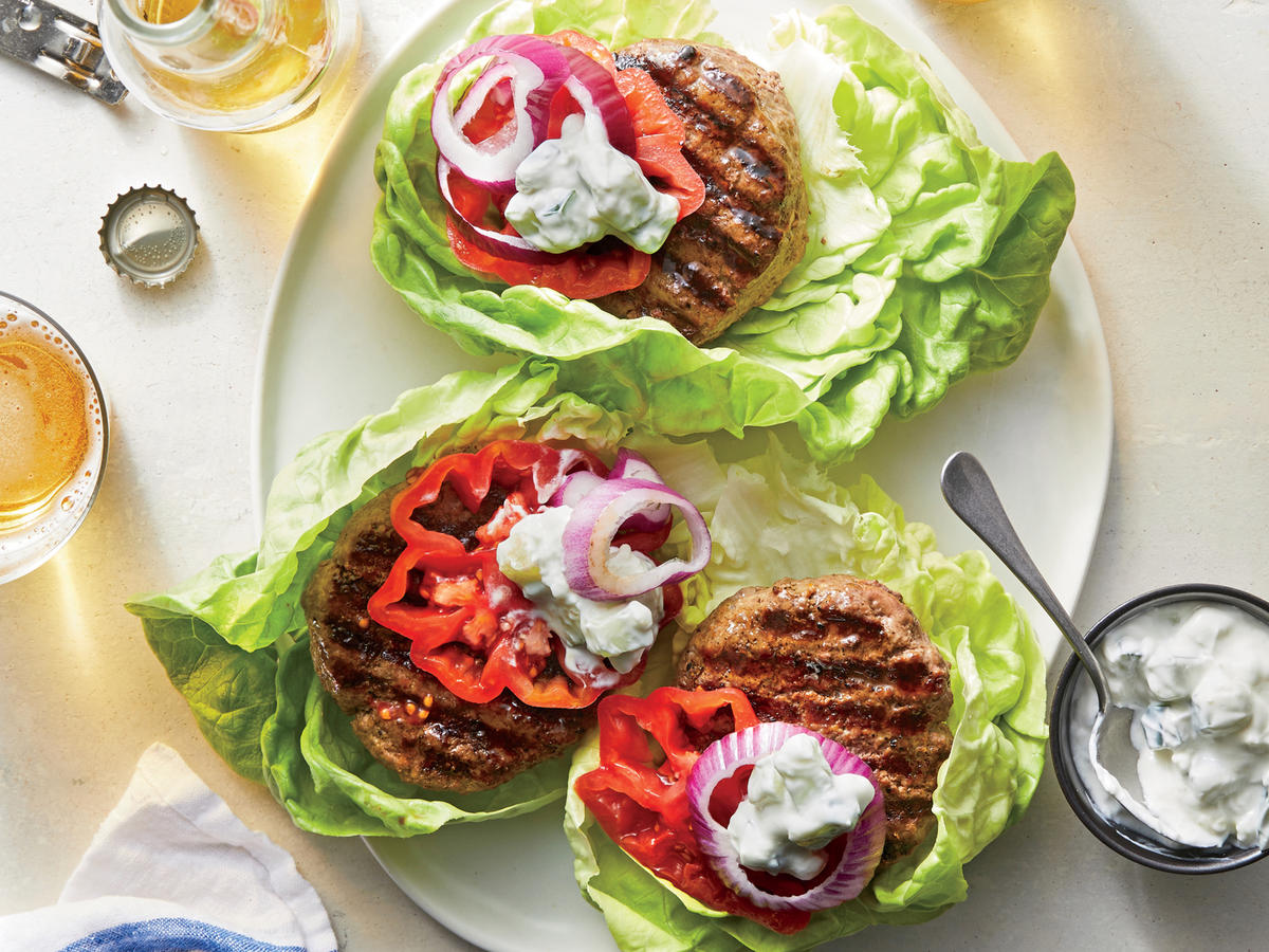 Tuesday: Grilled Beef-Mushroom Burgers