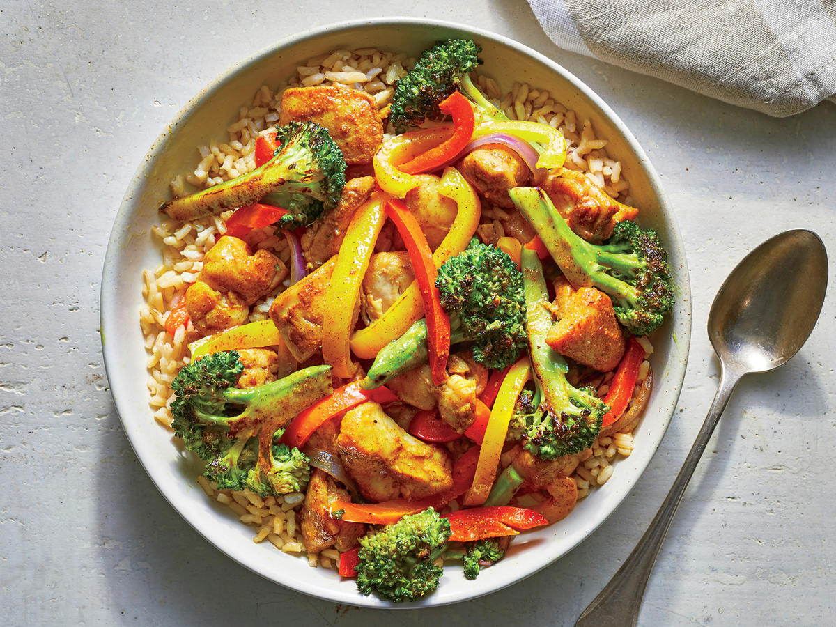 Make This Healthy Chicken Curry Stir-fry In 25 Minutes ...