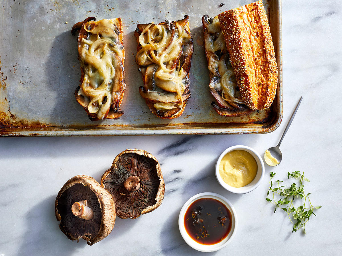 Portobello Mushroom French Dip Sandwiches