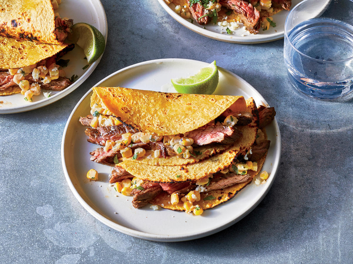 Grilled Steak and Elote Tacos