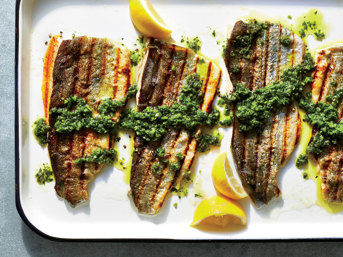 Wednesday: Grilled Rainbow Trout with Chimichurri