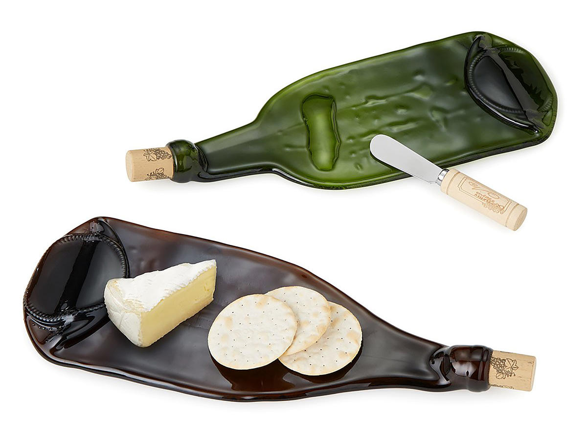 Recycled Wine Bottle Cheese Platter